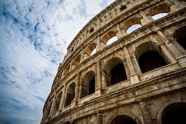 Rom, Colosseum, storbyferie i efteråret.