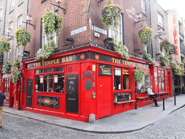 Dublin, The Temple Bar.