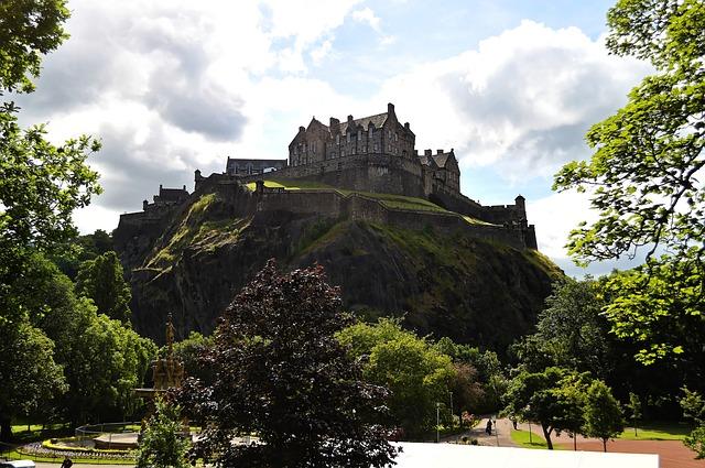 Edinburgh, Edinburgh Castle, storbyferie i efteråret.