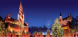 Julemarked i EU´s hovedstad Bruxelles