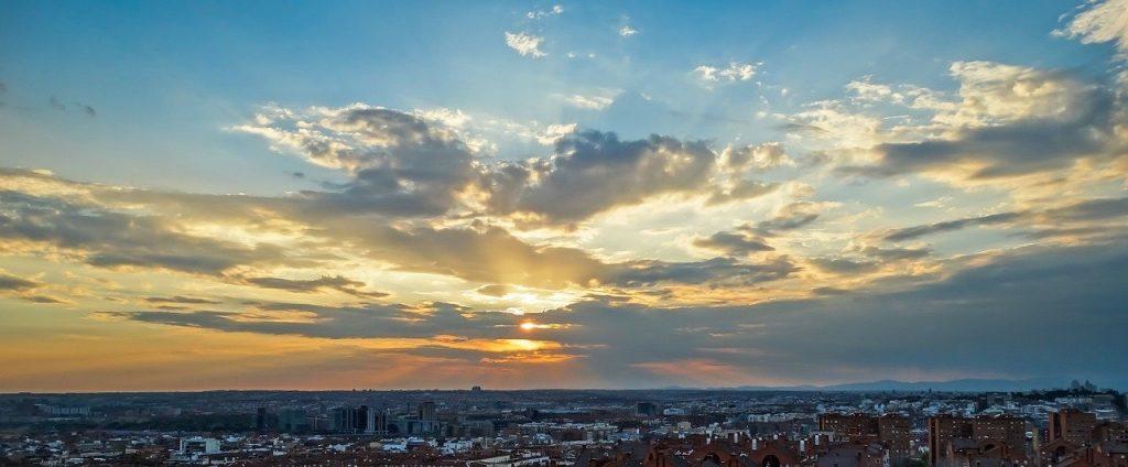 Solnedgang Madrid