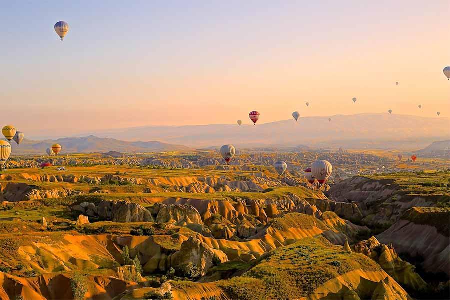 Luftballoner over Kappadokien