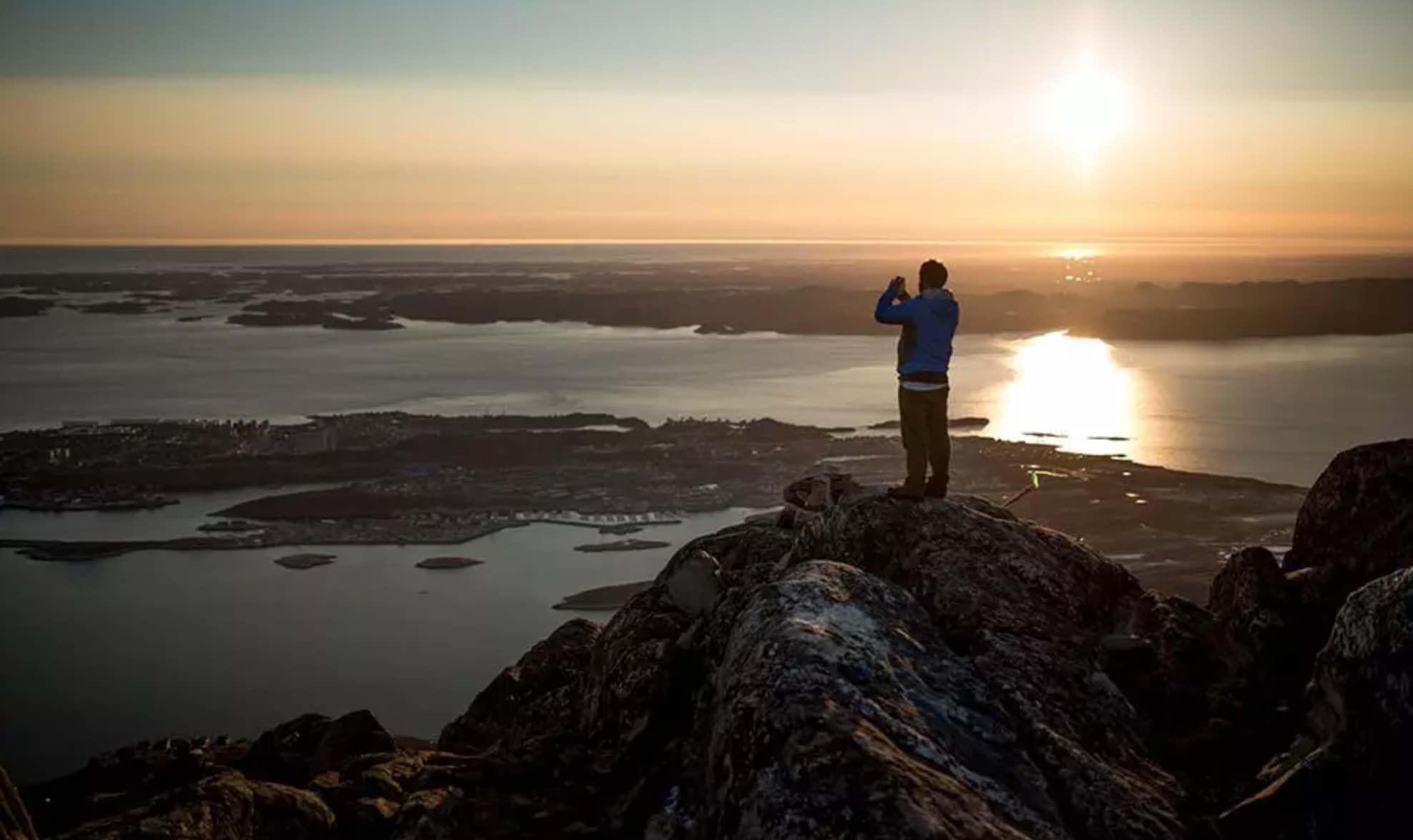 Midnatssol i Grønland